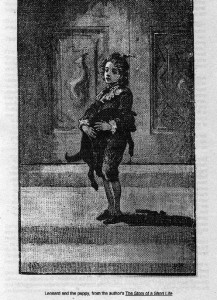 Illustration of Leonard and the puppy from The story of a short life