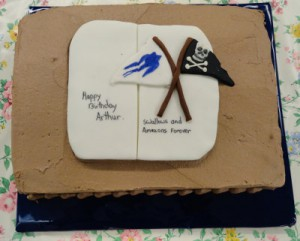 Image of birthday cake for Arthur Ransome