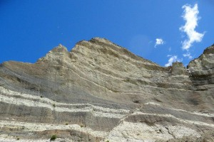 Image showing fault line through Cape Kidnappers cliff