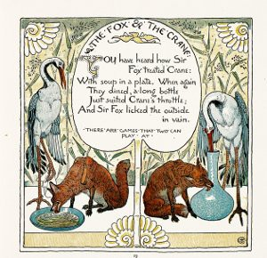 Image of the Cover of The Fox and the Crane