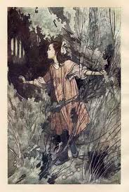 Illustration in the Secret Garden One of the original illustrations by Charles Robinson