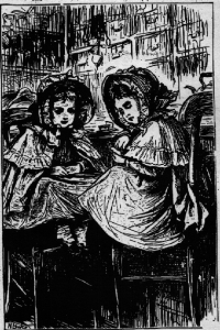 Illustration from Flat iron for a farthing, by Mrs Allingham