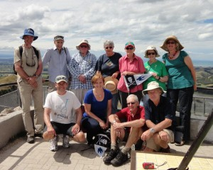 Image of group at top of Te Mata Peak