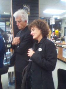 Image of Kate de Goldi and Bruce Foster at book launch