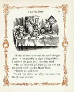 Illustration by John Tenniel in Alice's Adventures in Wonderland