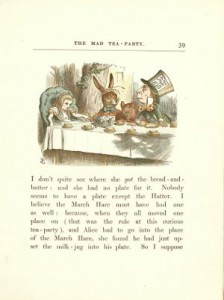 Coloured Illustration from Alice's Adventures in Wonderland