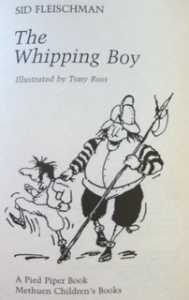 Cover of The Whipping Boy by Sid Fleischman