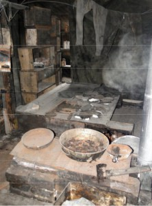 Image of the inside of Scott's hut