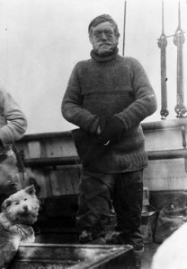 Ernest Shackleton on board the Nimord, 1909