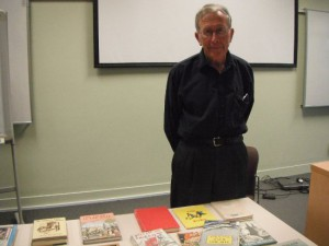 Picture of Trevor Mowbray and soome of the books he discussed