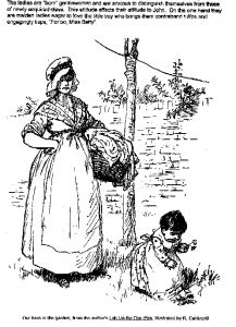 Illustration of Lob in the garden by R Caldecott from Lob Lie-by-the-fire