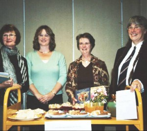 image of Author & readers with the midnight feast L-R: Tania, Marianne, Barbara & Joan Photo: Neil Robertson