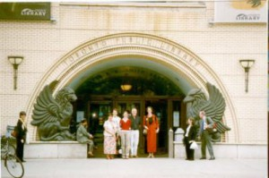 Right: Conference speakers outside the Lillian H Smith Branch of the Toronto Public Library